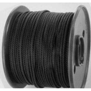 Koord, zwart 5mm (Rol van 250 meter)